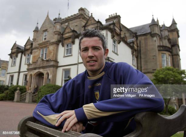 Scotland's Kevin McNaughton poses for the media at the Cameron House Hotel Loch Lomond