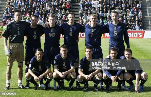 Scotland's line up Craig Gordon Kris Boyd Garry O'Connor Stephen McManus Darren Fletcher David Weir Paul Hartley Graham Alexander Barry Ferguson...
