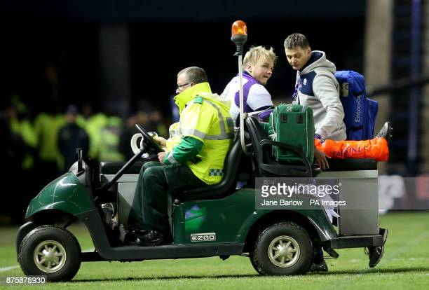 Scotland's Luke Hamilton is taken off with a leg injury in the second half during the Autumn International at BT Murrayfield Edinburgh