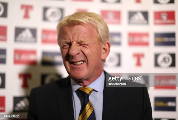Scotland's National coach Gordon Strachan names his squad for the forthcoming World Cup Qualifying match against England at Hampden Park on May 22...