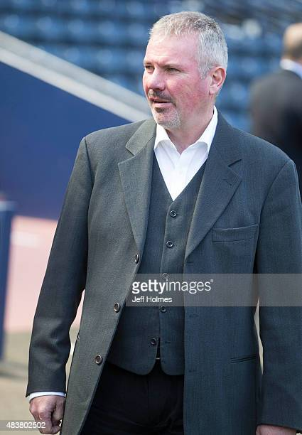 Scotland's Performance Director Brian McClair welcomes the new intake of Scottish FA Performance school at Hampden Park on August 13 2015 in Glasgow...