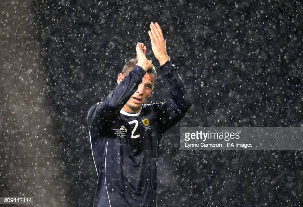 Scotland's Phil Bardsley applauds the fans following the International Friendly at Hampden Park Glasgow