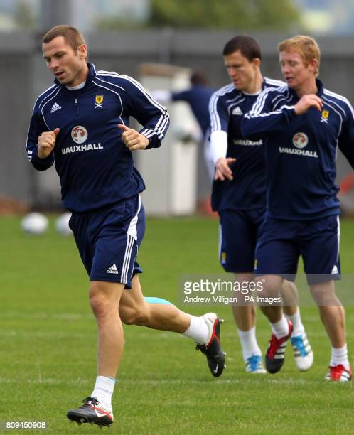 Scotland's Phil Bardsley during a training session at Strathclyde Homes Stadium Dumbarton