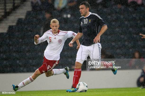 Scotland's Robert Snodgrass and Denmark's Nicolai Boilesen