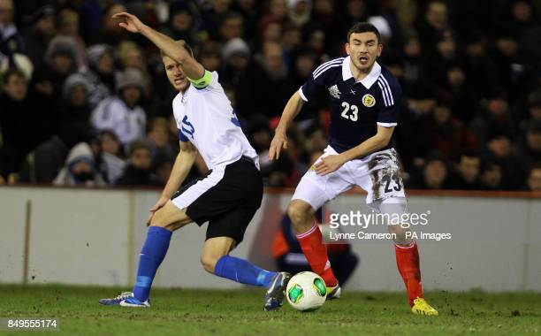 Scotland's Robert Snodgrass and Estonia's Ragnar Klavan