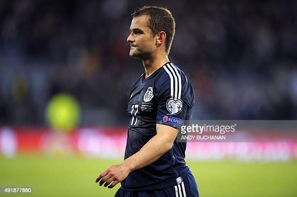 Scotland's Shaun Maloney leaves the pitch after Poland drew 22 at the end of the UEFA Euro 2016 qualifying Group D football match between Scotland...