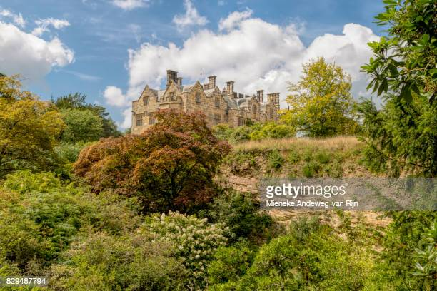 Scotney Castle dating from 1837, viewed from the Quarry Garden, Lamberhurst, Kent, United Kingdom