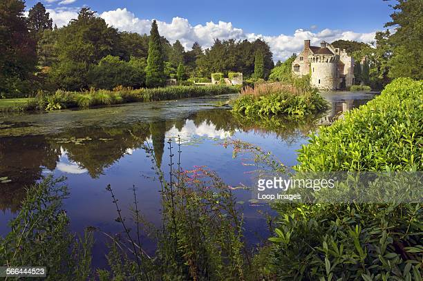 Scotney Old Castle an English country house built by Roger Ashburnham in the 14th century
