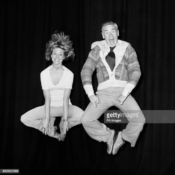 Scots comedian Stanley Baxter and Julie Dean a Brian Rogers dancer rehearsing for Stanley Baxter on Television which had to be postponed in...