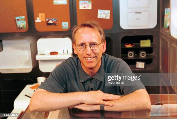 Scott Adams famed creator of the comic strip DILBERT stands within 'Dilbert's Ultimate Cubicle' which offers practical and humorous concepts for the...