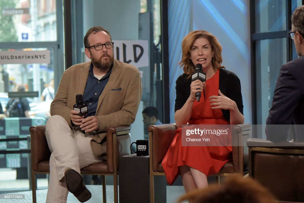 A.O. Scott (L) and Julie Menin attend Build series to discuss One Film, One New York Campaign at Build Studio on August 16, 2017 in New York City.