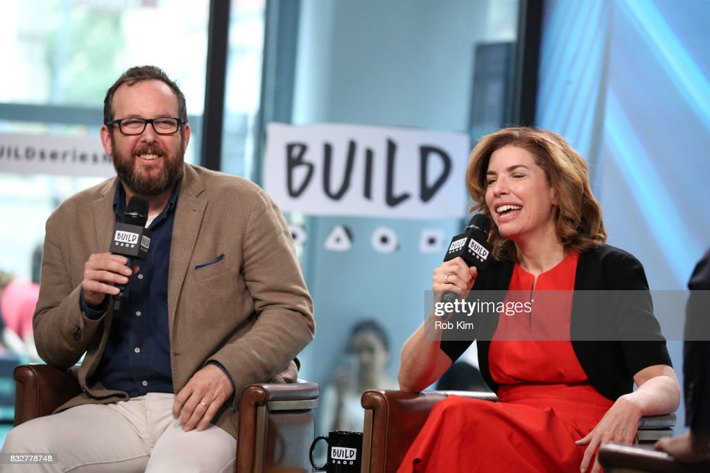 A.O. Scott and Julie Menin discuss the One Film, One New York Campaign at Build Studio on August 16, 2017 in New York City.