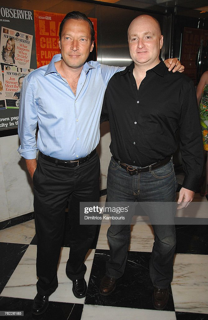 Scott Anderson and John Falk arrive during the premiere of 'The Hunting Party' at the Paris Theater on August 22, 2007 in New York City.