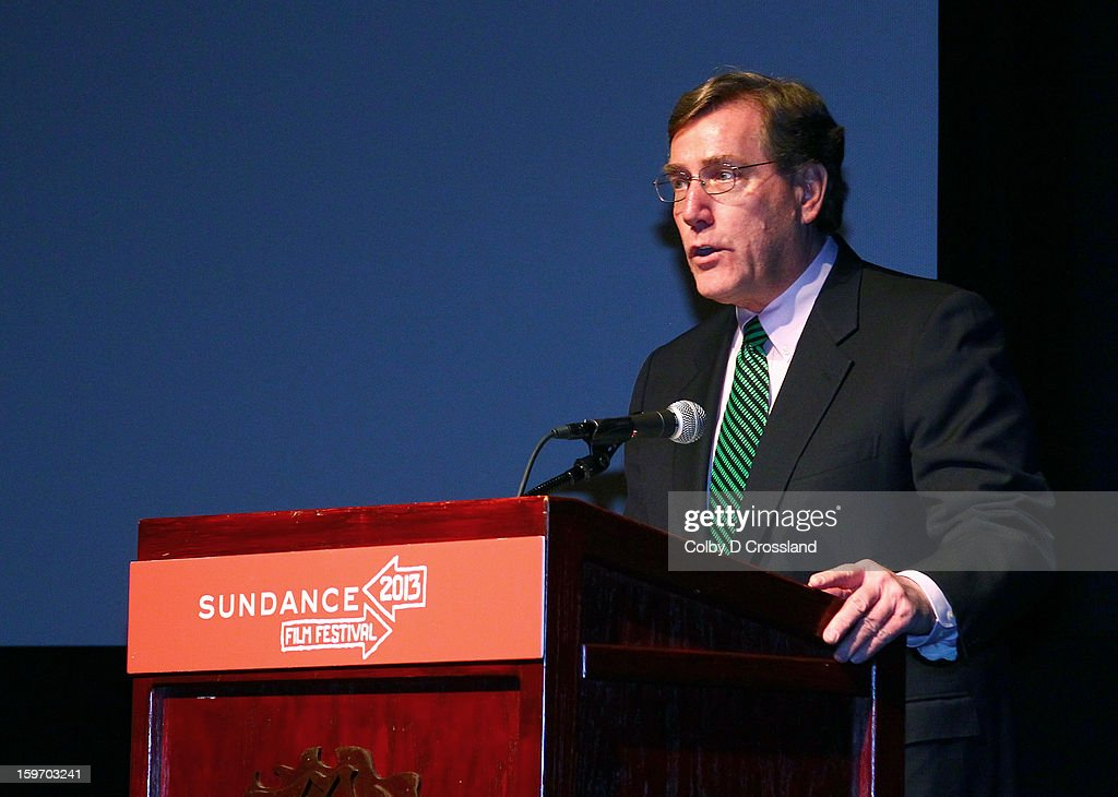 A. Scott Anderson President and Chief Executive Officer Zions First National Bankspeaks at the SLC Gala Green Room during the 2013 Sundance Film Festival at Rose Wagner Performing Arts Center on January 18, 2013 in Salt Lake City, Utah.