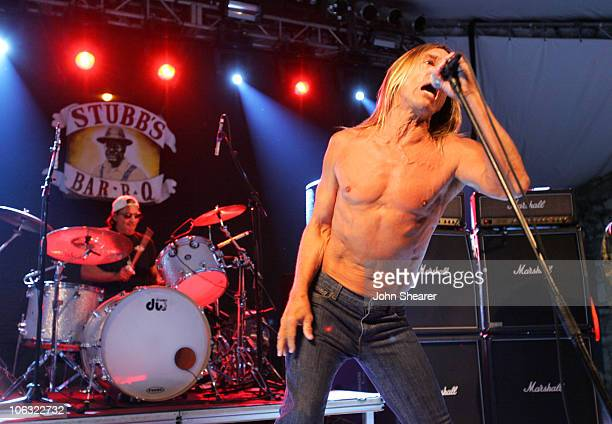 Scott Asheton and Iggy Pop of The Stooges during 21st Annual SXSW Film and Music Festival The Stooges at Stubbs at Stubb's in Austin Texas United...