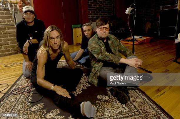 Scott Asheton Iggy Pop Mike Watt and Ron Asheton of the Stooges at the Electrical Audio in Chicago Il