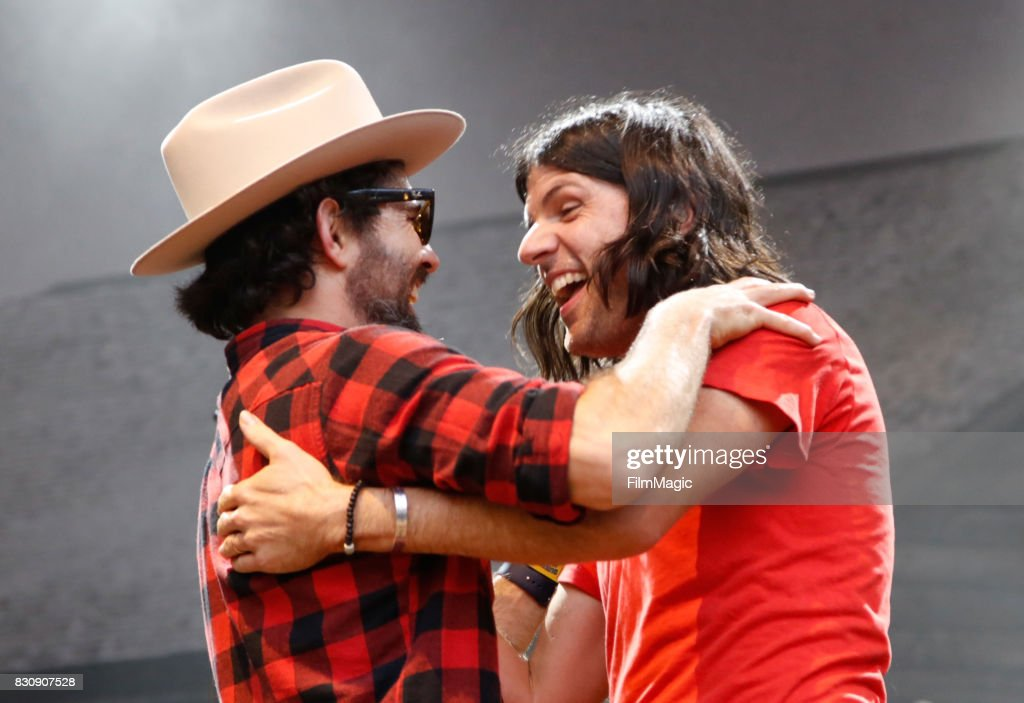 Scott Avett (L) and Seth Avett of The Avett Brothers perform on the Sutro Stage during the 2017 Outside Lands Music And Arts Festival at Golden Gate Park on August 12, 2017 in San Francisco, California.