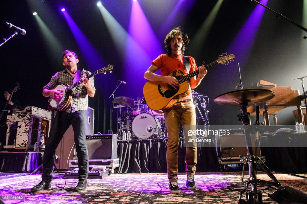 Scott Avett and Seth Avett of the Avett Brothers performs live at ACL Live at the Moody Theater during the SxSW Music Festival on March 15, 2017 in Austin, Texas.