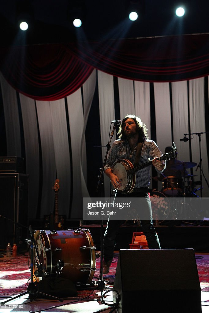 Scott Avett of The Avett Brothers performs at Red Rocks Amphitheatre on June 29, 2012 in Morrison, Colorado.