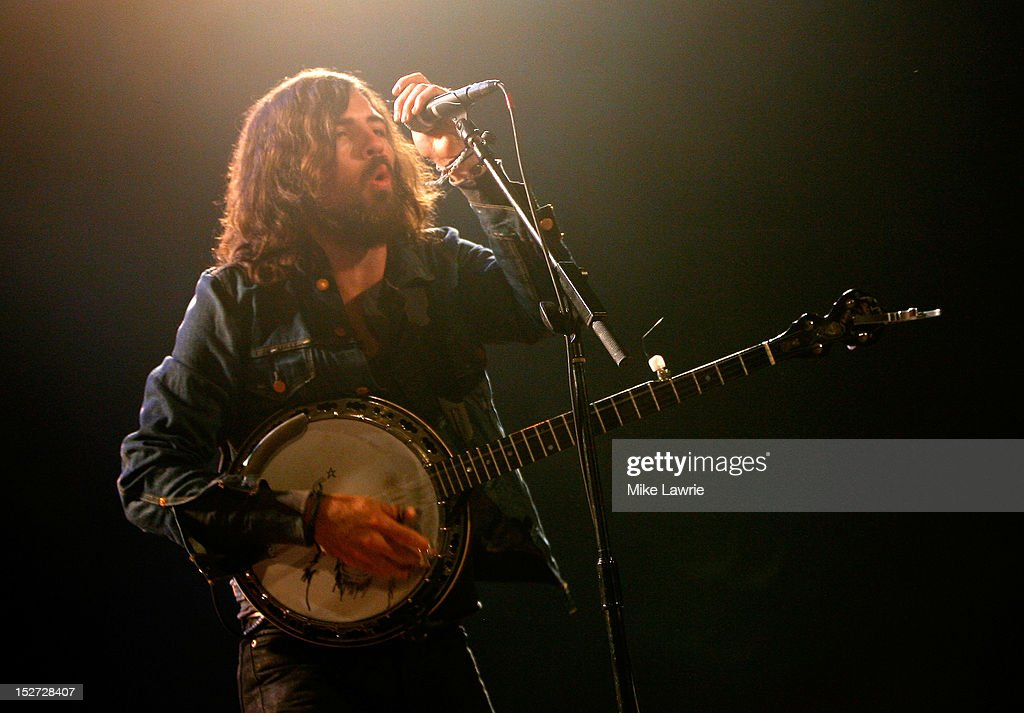 Scott Avett of the Avett Brothers performs at SummerStage at Rumsey Playfield, Central Park on September 24, 2012 in New York City.