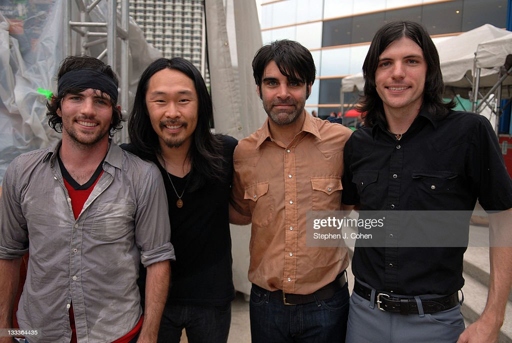 Scott Avett, Seth Avett, Bob Crawford,& Joe Kwon of <a gi-track='captionPersonalityLinkClicked' href=/galleries/search?phrase=The+Avett+Brothers&family=editorial&specificpeople=4270503 ng-click='$event.stopPropagation()'>The Avett Brothers</a> performs during The 8th Annual Forecastle Festival at The Riverfront Belvedere on July 12, 2009 in Louisville, Kentucky.