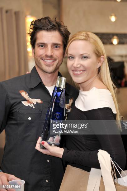 Scott Bailey and Adrienne Frantz attend Silver Spoon Presents Oscar Weekend Red Cross Event For Haiti Relief at Interior Illusions on March 3 2010 in...