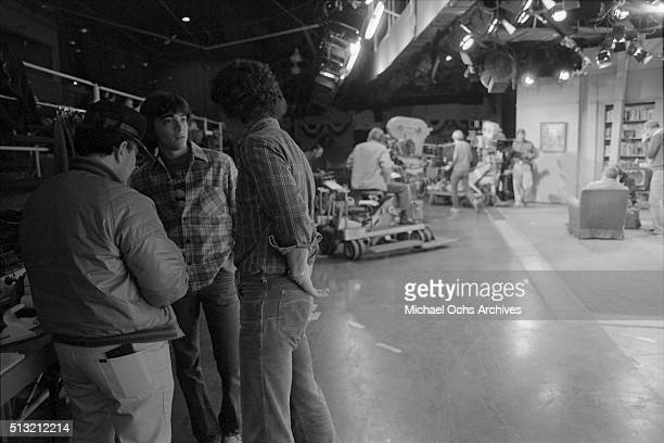 Scott Baio rehearses on the set of 'Happy Days' at Paramount Studios on March 5 1981 in Los Angeles California