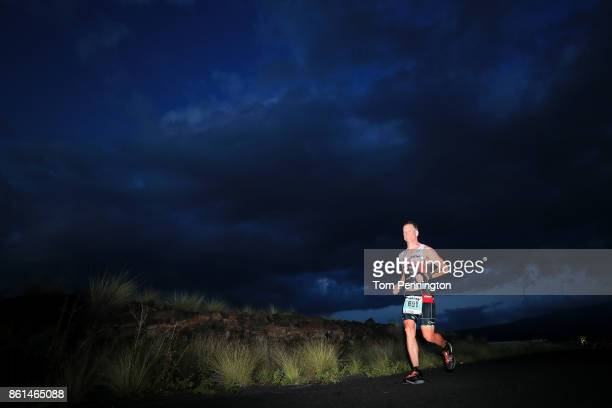 Scott Baldwin of the United States competes during the IRONMAN World Championship on October 14 2017 in Kailua Kona Hawaii