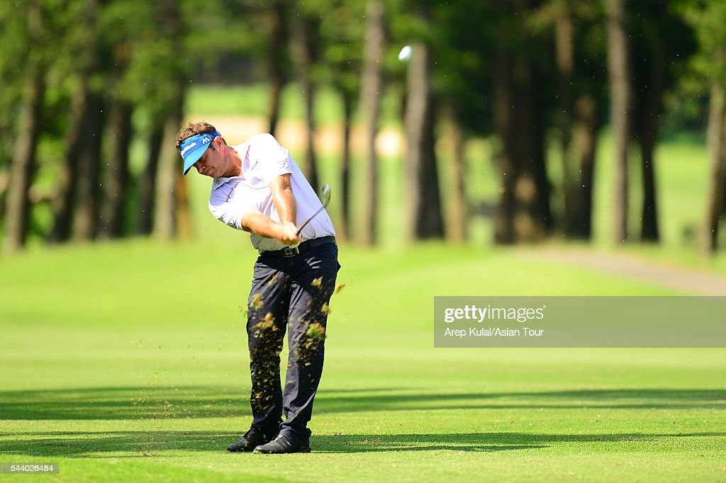 Scott Barr of Australia pictured during the round 2 of the Yeangder Tournament Players Championship 2016 at Linkou International Golf Club on July 1, 2016 in Taipei, Taiwan.
