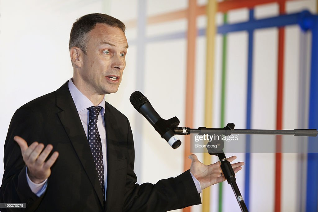 Scott Beaumont, head of Greater China at Google Inc., gestures as he speaks at the opening ceremony of the Google data center in Changhua, Taiwan, on Wednesday, Dec. 11, 2013. Google, owner of the worlds most-popular search engine, doubled its spending plan for a new data center in Taiwan to $600 million amid surging demand from Asia for its Gmail and YouTube services. Photographer: Ashley Pon/Bloomberg via Getty Images