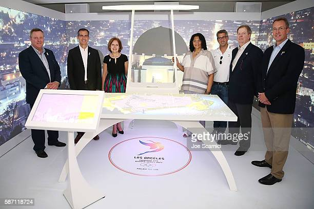 Scott Blackmun Los Angeles Mayor Eric Garcetti Ambassador Liliana Ayalde US Mission to Brazil IOC Executive Anita DeFrantz Chairman of the LA 2024...