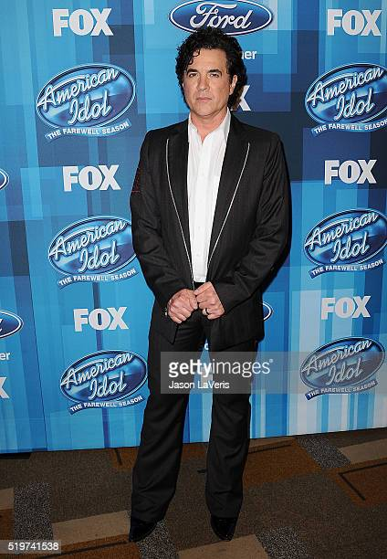 Scott Borchetta poses in the press room at FOX's 'American Idol' finale for the farewell season at Dolby Theatre on April 7 2016 in Hollywood...