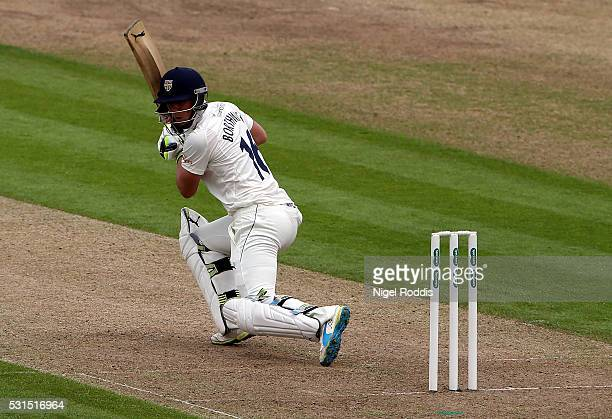 Scott Borthwick in action during the Specsavers County Championship Division One match between Durham and Lancashire at the Emirates Stadium on May...