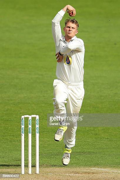 Scott Borthwick of Durham bowls during Day Two of the Specsavers County Championship Division One match between Yorkshire and Durham at Headingley on...