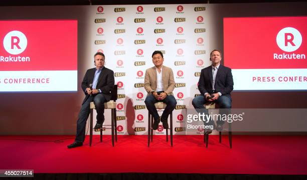 Scott Brady chief executive officer of Slice Technologies Inc left Hiroshi Mikitani billionaire chairman and chief executive officer of Rakuten Inc...