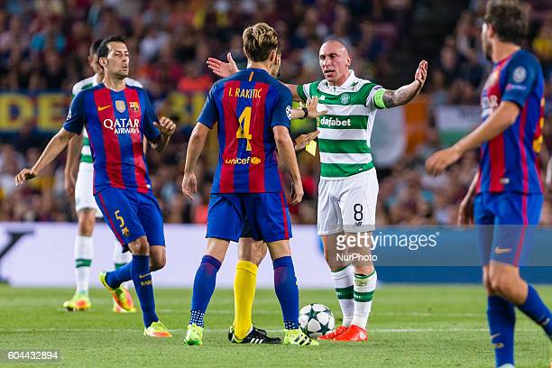 Scott Brown and Rakitic during the UEFA Champions League match corresponding to group stage match between FC Barcelona Celtic FC played at Camp Nou...