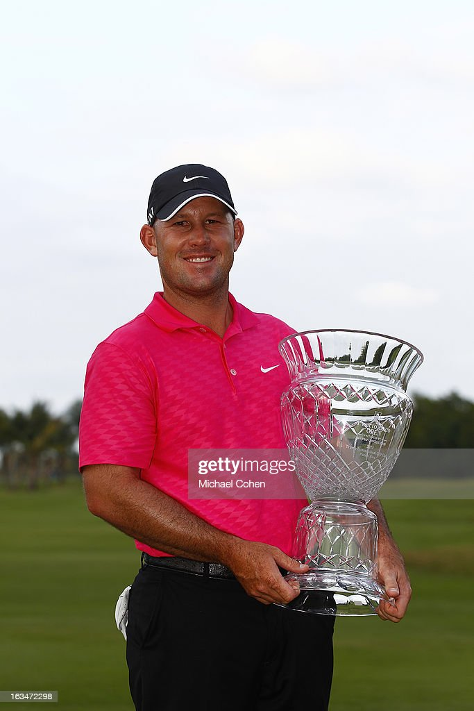 Scott Brown holds the trophy after the final round of the Puerto Rico Open presented by seepuertorico.com held at Trump International Golf Club on March 10, 2013 in Rio Grande, Puerto Rico.