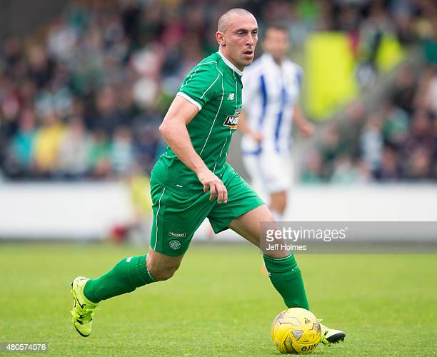 Scott Brown of Celtic at the Pre Season Friendly between Celtic and Real Sociedad at St Mirren Park on July 10th 2015 in Paisley Scotland