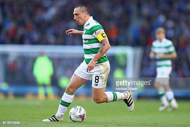 Scott Brown of Celtic during the Betfred Cup SemiFinal match between Rangers and Celtic at Hampden Park on October 23 2016 in Glasgow Scotland