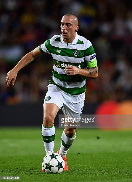 Scott Brown of Celtic in action during the UEFA Champions League Group C match between FC Barcelona and Celtic FC at Camp Nou on September 13 2016 in...