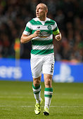 Scott Brown of Celtic in action during the UEFA Champions League Qualifying play off first leg match between Celtic FC and Malmo FF at Celtic Park on...