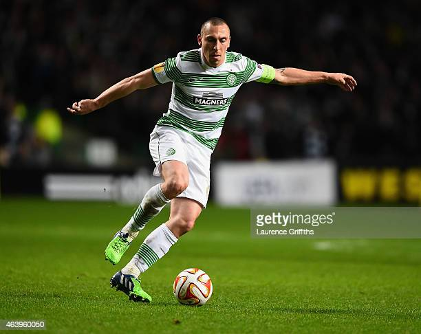 Scott Brown of Celtic in action during the UEFA Europa League Round of 32 match between Celtic and FC Internazionale Milano on February 19 2015 in...