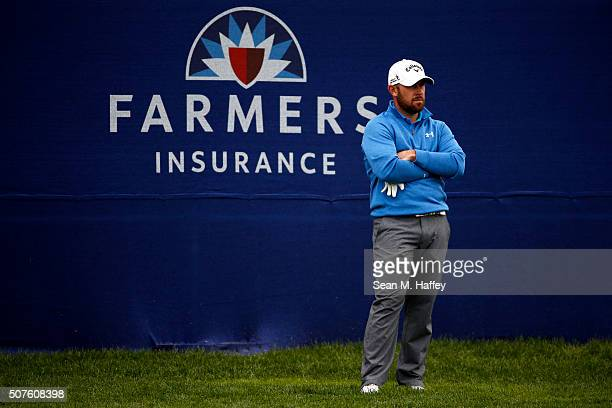 Scott Brown stands near the 18th green during Round 3 of the Farmers Insurance Open at Torrey Pines South on January 30 2016 in San Diego California
