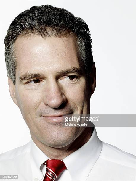 Scott Brown United States Senator from Massachusetts poses for a portrait session in his office in Washington DC for The New York Times Magazine