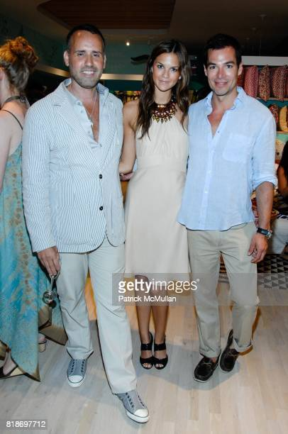 Scott Buccheit Allie Rizzo and Mark Silver attend Tinsley Mortimer Hosts the Roberta Freymann East Hampton Boutique Grand Opening at Roberta Freymann...