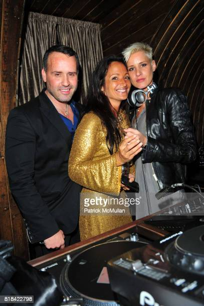 Scott Buccheit Emma SnowdonJones and Eve Salvail attend American Red Cross Concern Worldwide and The Edeyo Foundation Fundraiser at 1 OAK on January...