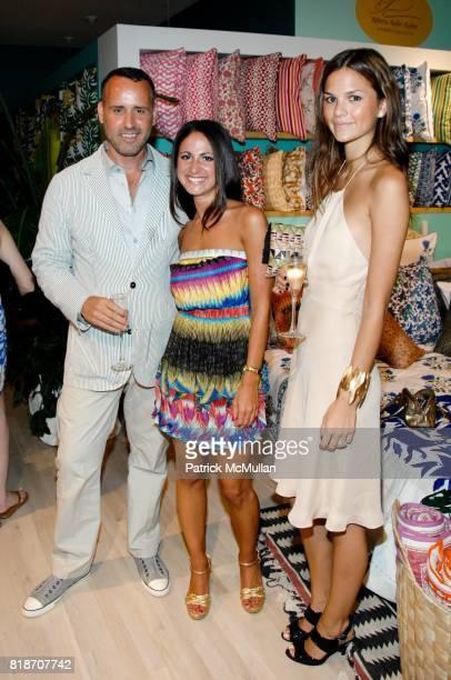 Scott Buccheit Jasmine Rosenberg and Allie Rizzo attend Tinsley Mortimer Hosts the Roberta Freymann East Hampton Boutique Grand Opening at Roberta...
