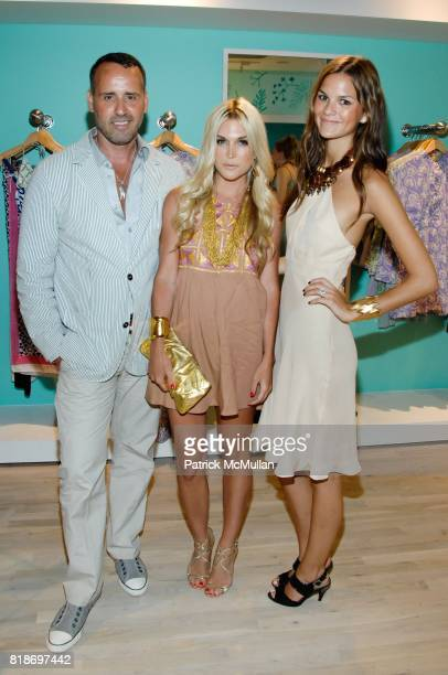 Scott Buccheit Tinsley Mortimer and Allie Rizzo attend Tinsley Mortimer Hosts the Roberta Freymann East Hampton Boutique Grand Opening at Roberta...
