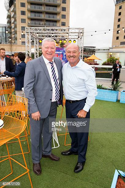 Scott Cam and Wally Lewis poses during the Channel Nine Up fronts at The Star on November 8 2016 in Sydney Australia