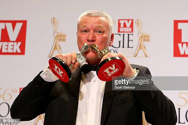 Scott Cam poses in the awards room after winning the Gold Logie for Most Popular Personality on Television at the 2014 Logie Awards at Crown...